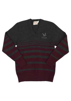 Nayland College Jersey Charcoal/Maroon
